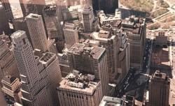 Die Skyline von New York aus einem Hochhaus fotografiert