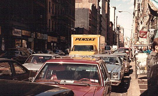 Der Verkehr in New York ist immer dicht