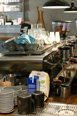 Eine richtig dicke Maschine, aber der Kaffee muss mich beim nächsten Mal noch richtig überzeugen