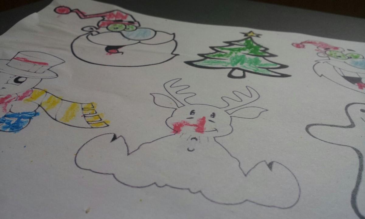 ausmalen von weihnachtsbildern in der vorweihnachtszeit
