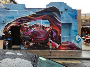 streetart an einer hauswand in london